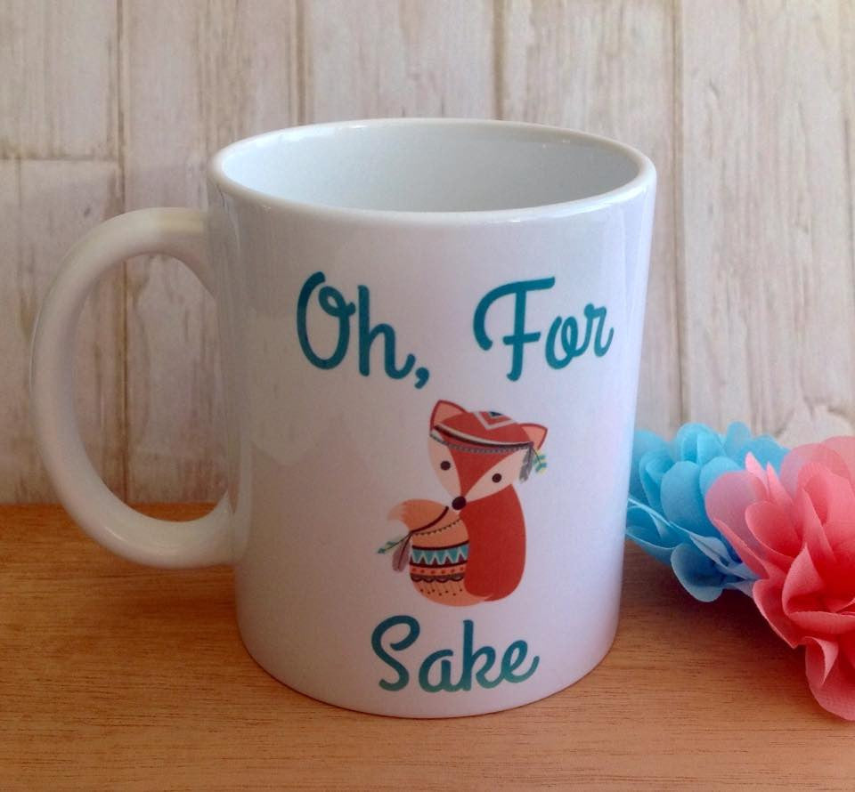 For fox sake swear funny ceramic mug - Fred And Bo
