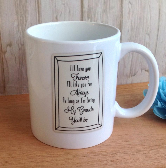 I'll love you forever quote ceramic mug - Fred And Bo