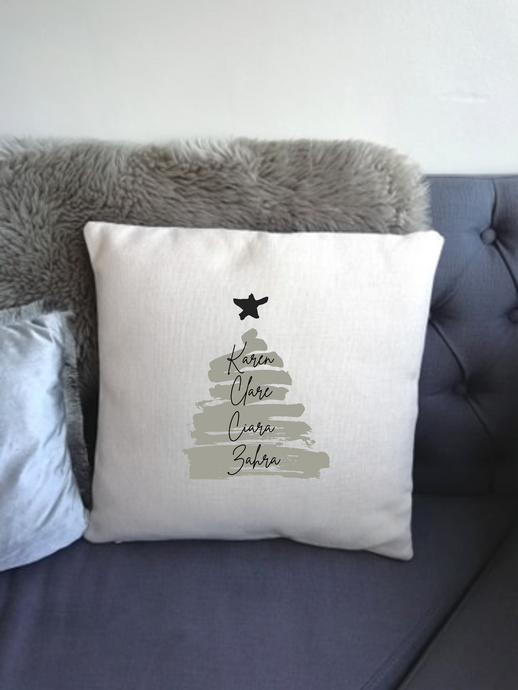 Christmas Tree Personalised printed cushion