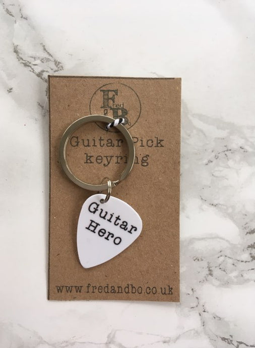 Guitar Pick Keyring- Guitar Hero - Fred And Bo