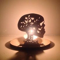 Sugar skull tea light holder - Fred And Bo