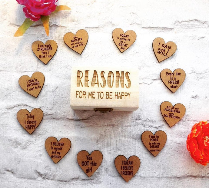 Reasons for me to be Happy .... Keepsake  - chest and hearts - Fred And Bo