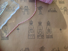 Hand stamped Nativity gift wrap - Fred And Bo