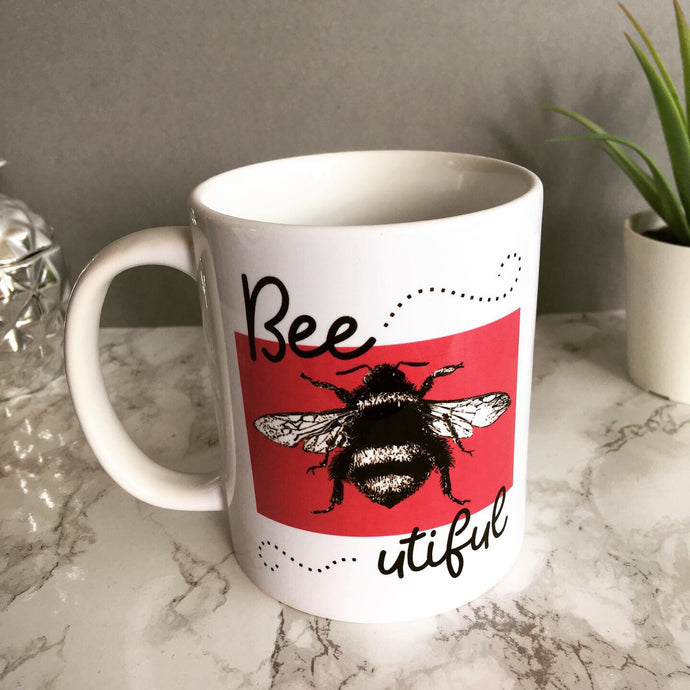 Bee utiful printed ceramic mug - Fred And Bo