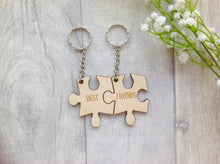 Best friends jigsaw puzzle two piece keyring - Fred And Bo