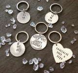Ey up - Yorkshire slang - hand stamped key chain - Fred And Bo