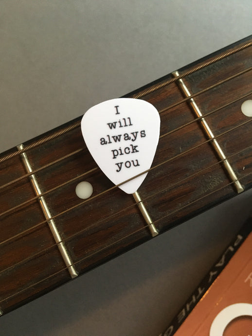Guitar Pick- I will always pick you (set of 3) - Fred And Bo