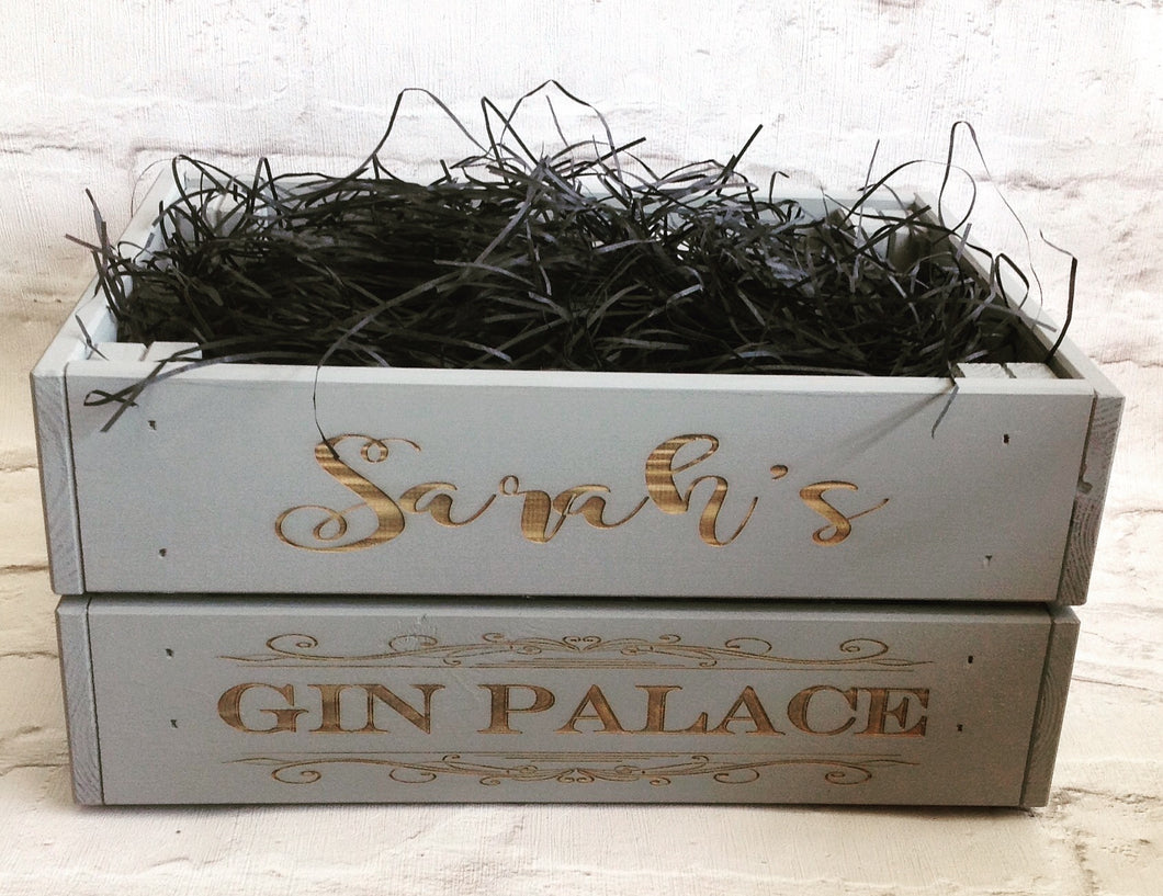 Personalised Gin Palace crate | Infuse-A-Gin - Fred And Bo