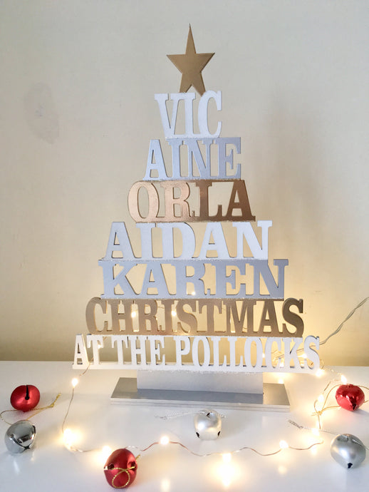 Laser cut Christmas tree personalised - Fred And Bo