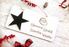 ? Sleeps until Santa visits..... christmas festive plaque - Fred And Bo
