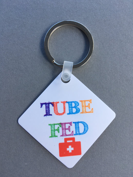 Tube fed Medical Alert Keyring.