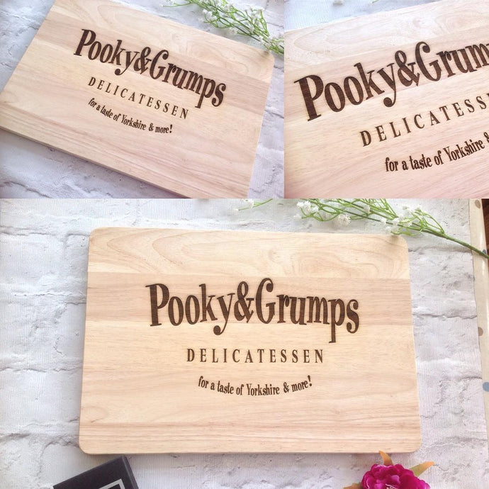 Personalised chopping board- business logo - Fred And Bo