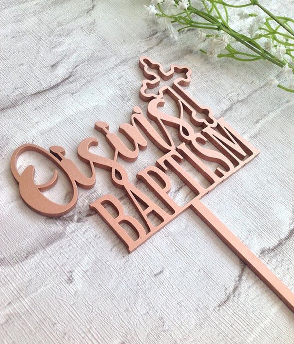 Christening cake topper - - Fred And Bo