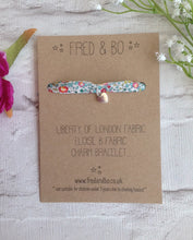Liberty of London heart charm bracelet - Eloise B Liberty fabric bracelet - Fred And Bo