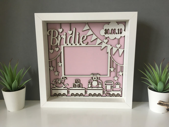 Box Frame - Laser Cut Personslised photo frame - Fred And Bo