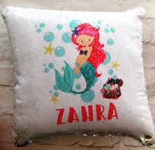 Magical sequins cushion-Mermaid under the sea personalised mermaid cushion - Fred And Bo