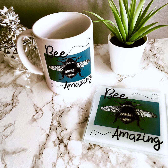 Mug & Coaster set- Bee amazing - Fred And Bo