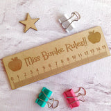 Personalised ruler - personalised gift - thank you teacher gift - Fred And Bo