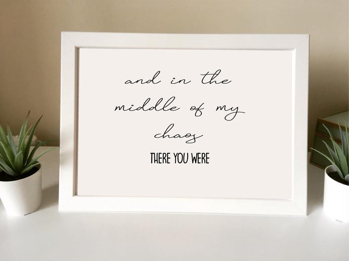 And in the middle of my chaos- there you were- Framed Print - - Fred And Bo