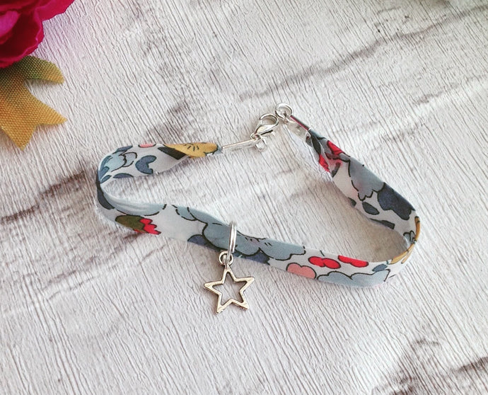 Liberty of London star charm bracelet - Betsy P Liberty fabric bracelet - Fred And Bo