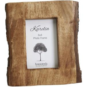 Natural wood photo frame with exposed bark - Fred And Bo