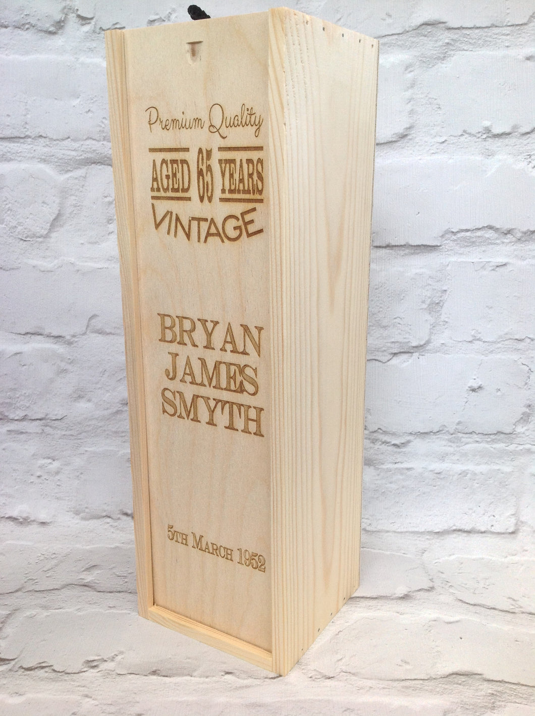 Wine box - Personalised Birthday gift - Fred And Bo