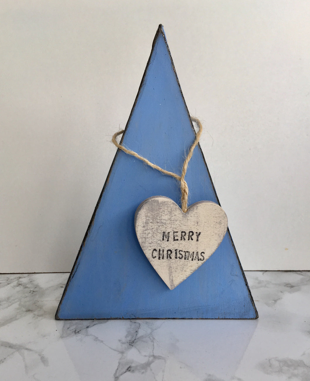 Scandinavian style Christmas Tree- blue Merry Christmas - Fred And Bo