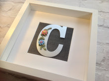Floral Letter Inital Box Frame - Fred And Bo