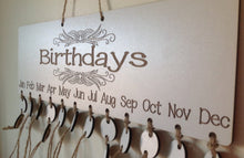 Birthday calendar plaque - personalised birthday tracker - Fred And Bo