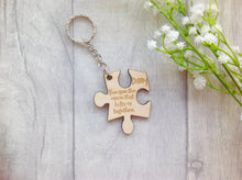 Daddy you are the piece that holds us together jigsaw puzzle keyring - Fred And Bo