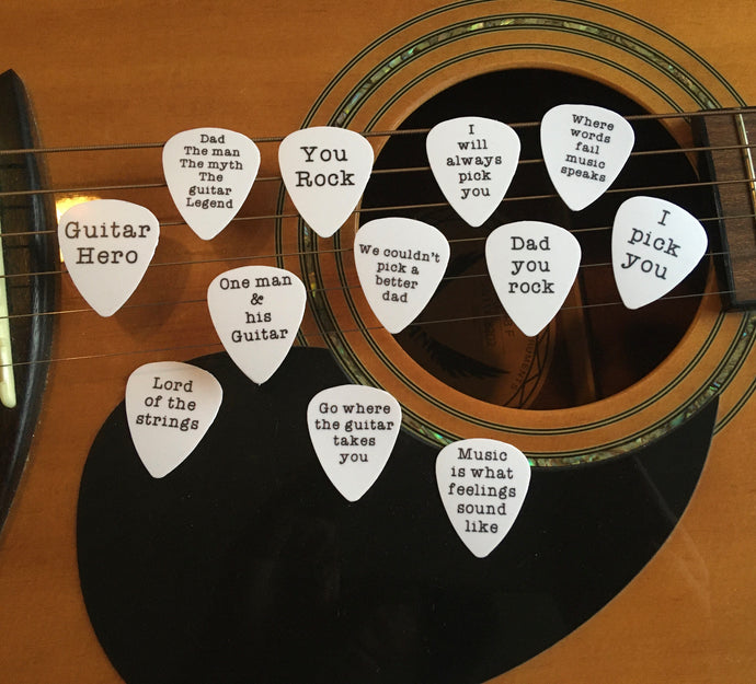 Guitar Pick- custom order personalised (set of 3) - Fred And Bo