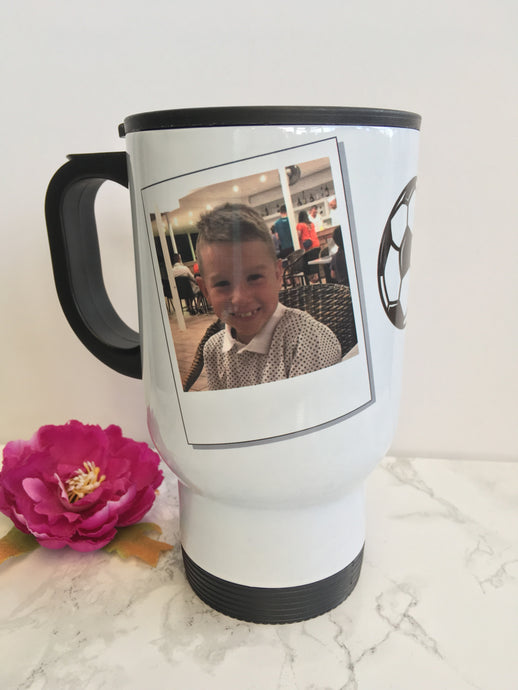 Travel mug- personalised with photo - Fred And Bo