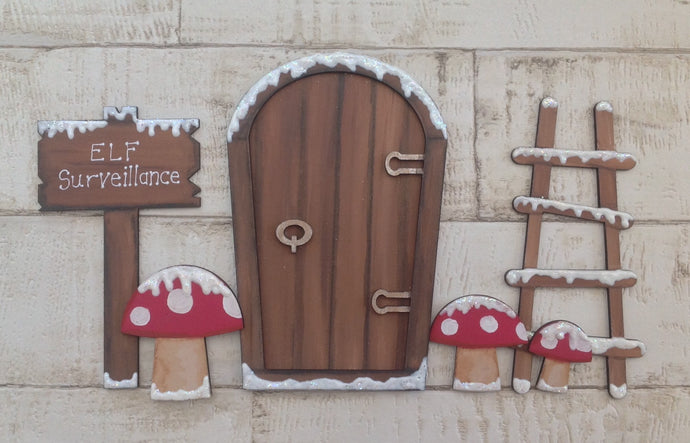 Christmas elf / fairy mini door set - Fred And Bo
