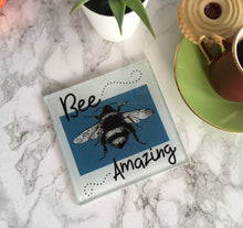 Bee-amazing - Bee sketch- printed glass coaster - Fred And Bo
