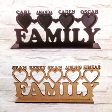 Family photo frame personalised - Fred And Bo