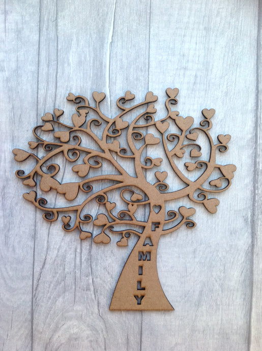 Laser cut family tree for crafters whimsical tree - Fred And Bo