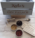 Infuse-A-Gin - personalised gin botanicals box - FANCY FONT - Fred And Bo