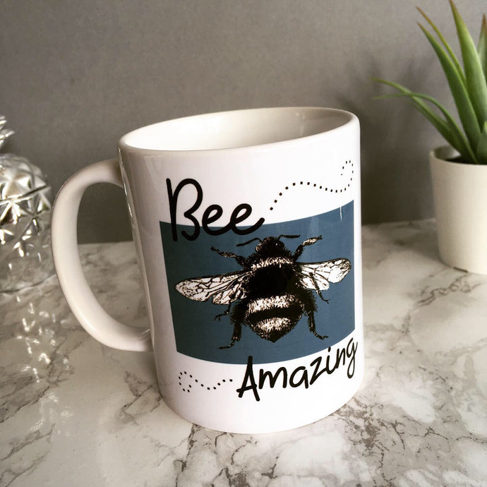 Bee amazing printed ceramic mug - Fred And Bo