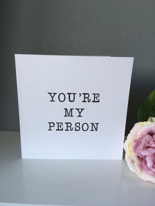 Valentine's card You're my person  | Fred & Bo - Fred And Bo