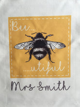 Bee-utiful Bumble Bee- Natural Eco Vienna Fabric Tote Bag - Fred And Bo