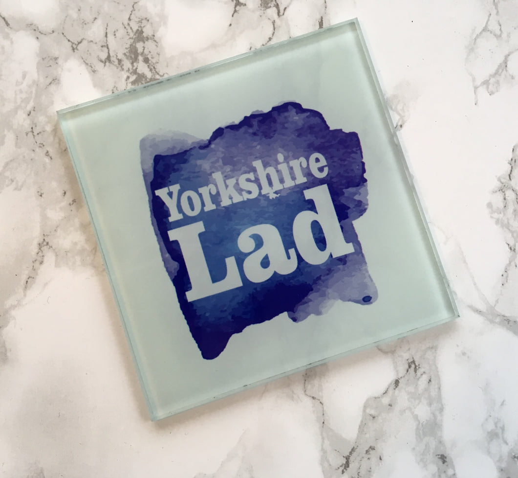 Yorkshire Lad Glass Coaster - Fred And Bo