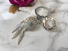 Dream catcher hand stamped keyring - Dream BIG little one - Fred And Bo