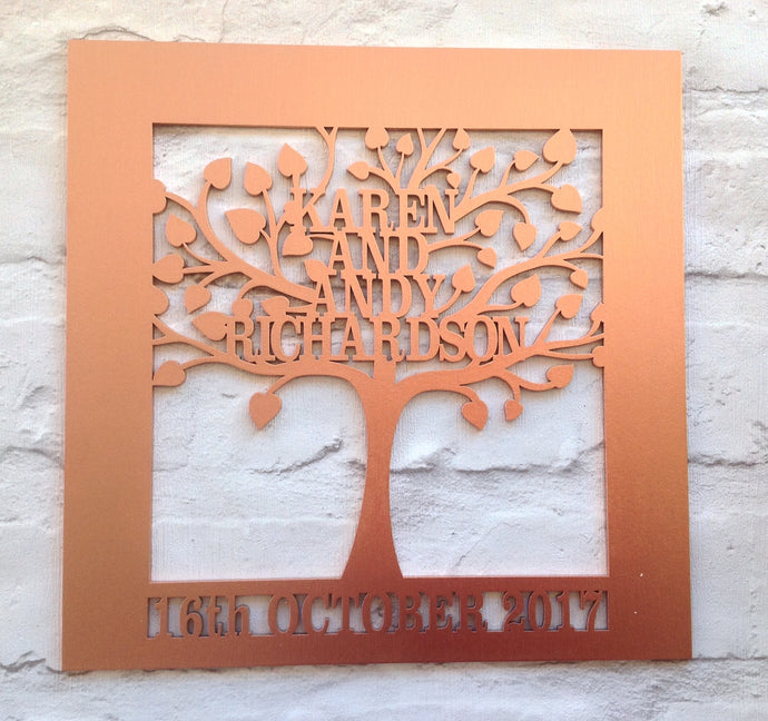 Wedding | Anniversary style Family tree laser cut - Fred And Bo