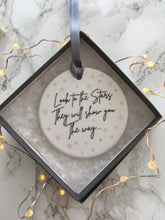 Ceramic positive mantra Stars Hanging Decoration - Fred And Bo