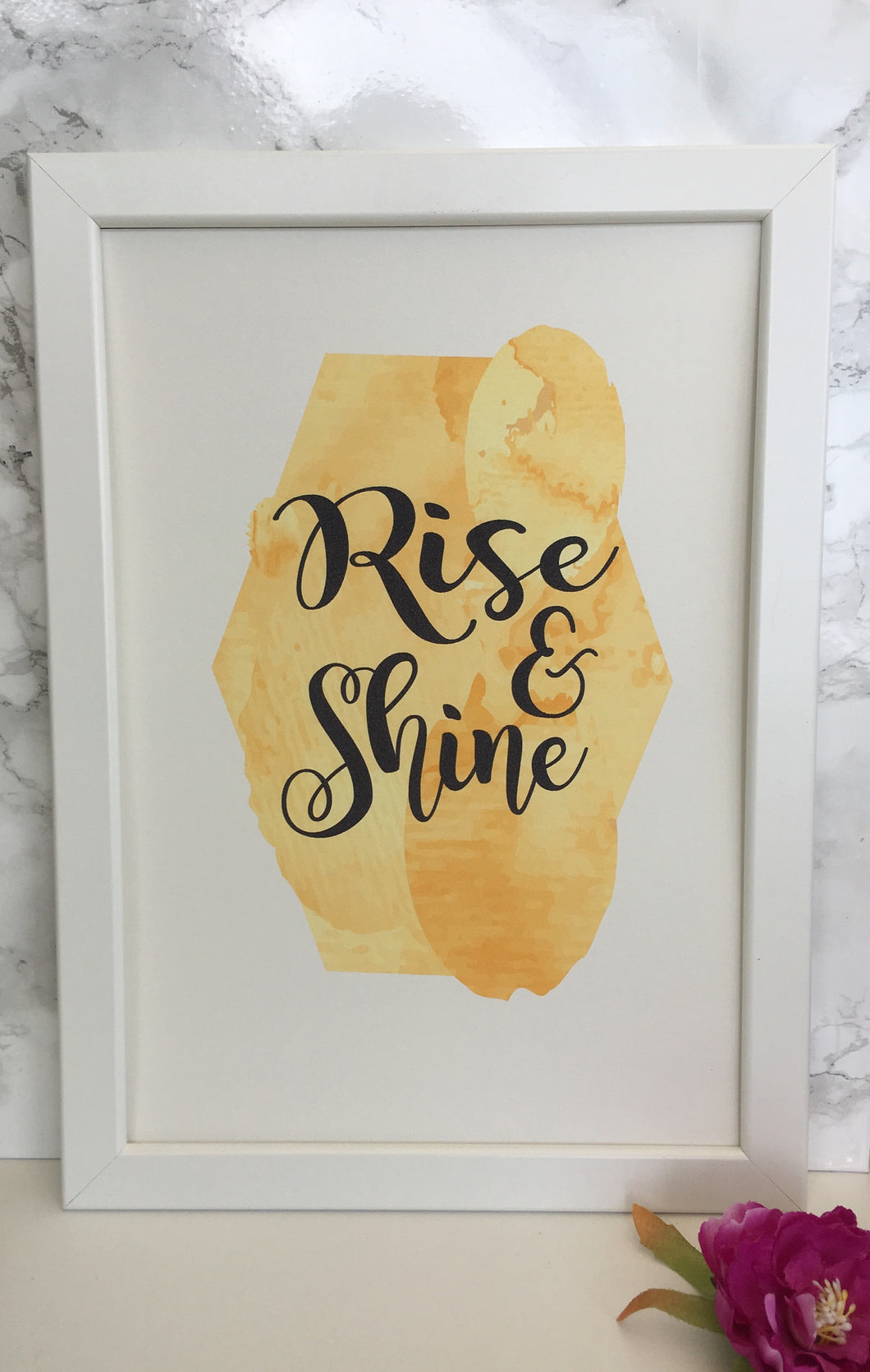 Rise & Shine framed watercolour print - Fred And Bo