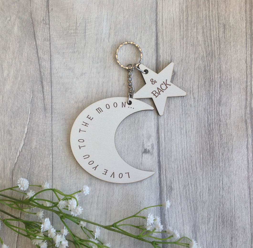 Moon and back keyring - Fred And Bo