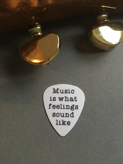 Guitar Pick- Music is what feelings sound like (set of 3) - Fred And Bo