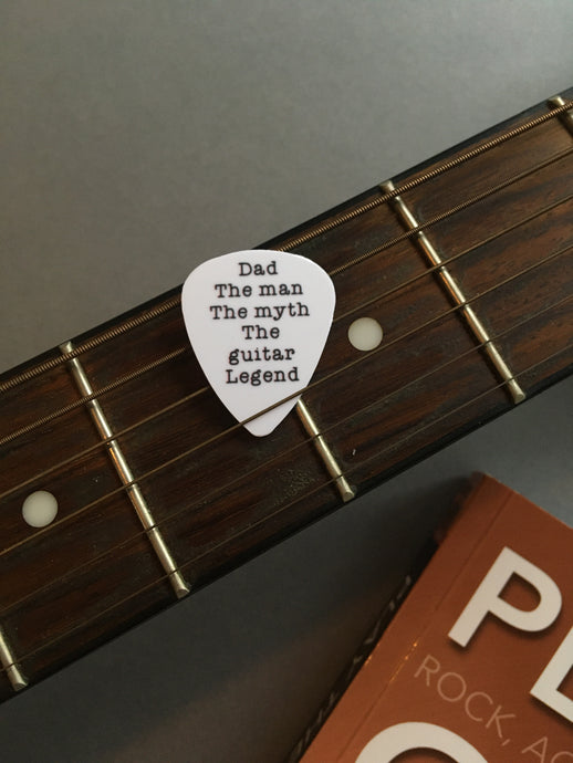 Guitar Pick- Dad The man The myth The Guitar legend (set of 3) - Fred And Bo