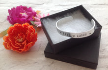Hand stamped aluminium bangle - Personalised - Fred And Bo