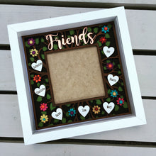 Friends photo frame - hand painted personalised friends gift - Fred And Bo